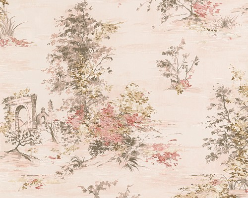 Tapeta AS Creation ROMANTICA 3 30429-2 w stylu shabby chic.